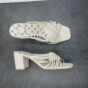 Dolce Vita Delana Woven Leather High-Heel Sandals
